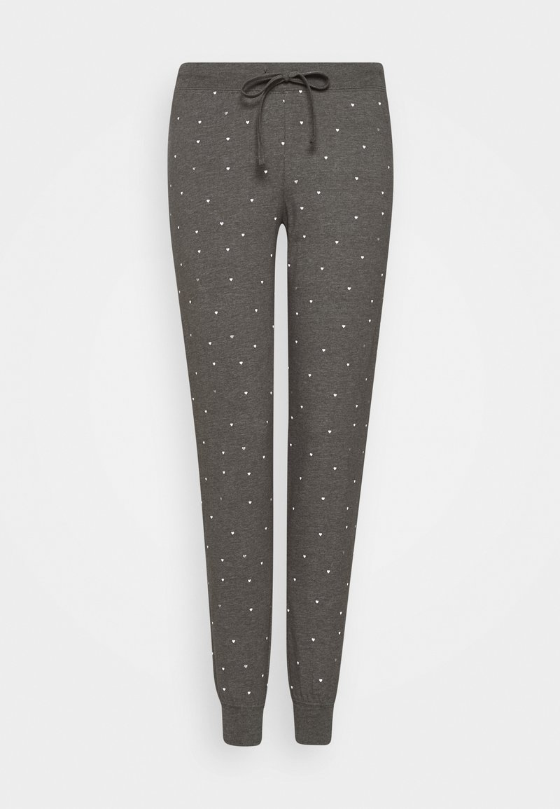 Lindex - NIGHT TROUSERS TEA - Pyjama bottoms - dark grey melange