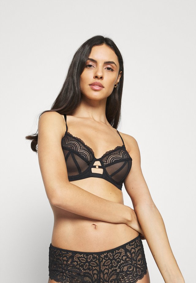 WIRE BRA - Bügel BH - black