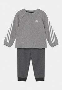 adidas Performance - SET UNISEX - Chándal - medium grey heather/black melange/white - 0