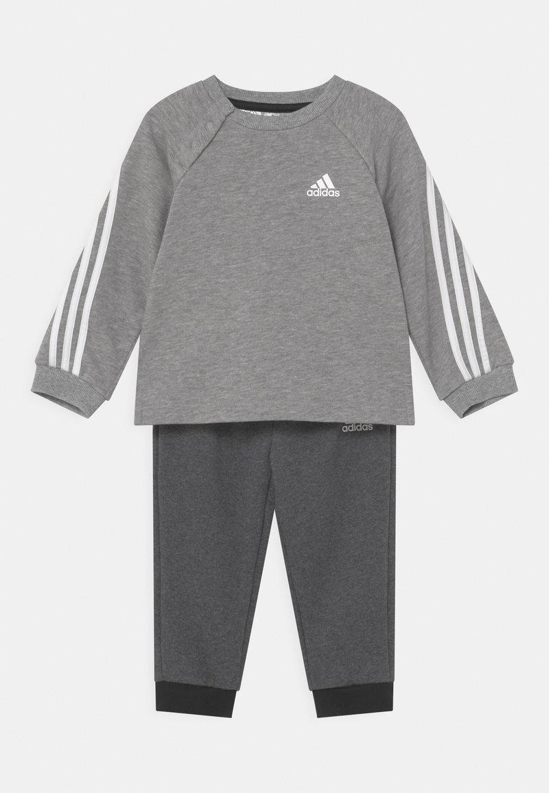 adidas Performance - SET UNISEX - Chándal - medium grey heather/black melange/white