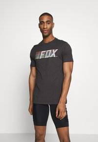 Fox Racing - LIGHTSPEED MOTH PREM TEE - T-Shirt print - black/white - 0