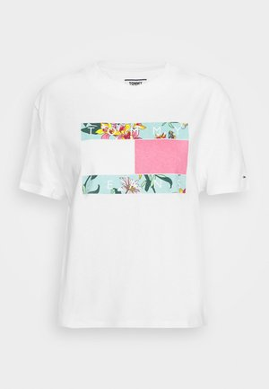 HAWAII FLAG TEE - Triko s potiskem - white