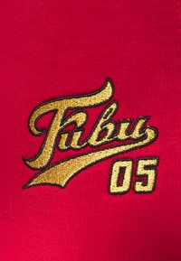 FUBU - VARSITY JOGGER - Tracksuit bottoms - burgundy - 5