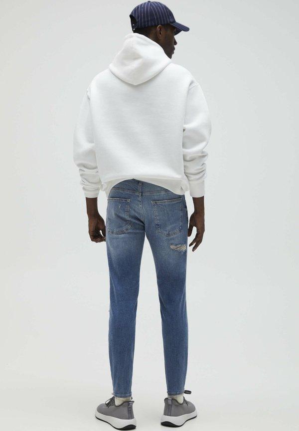 PULL&BEAR Jeansy Skinny Fit - light blue/jasnoniebieski Odzież Męska QJCD