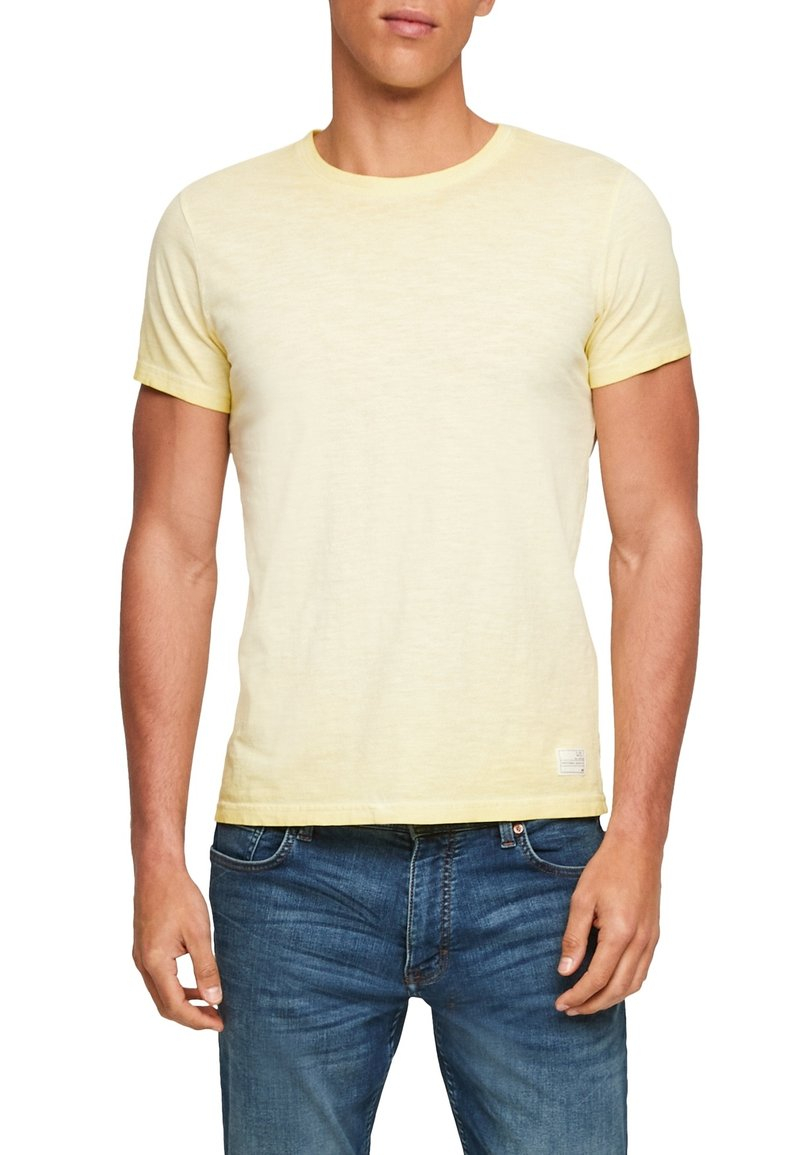 Q/S designed by - Basic T-shirt - yellow