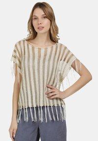 usha - Print T-shirt - wollweiss - 0