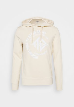 HOODY WITH PRINT - Collegepaita - light almond