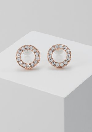 Earrings - rosé/clear