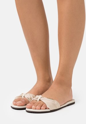 YOU TROPEZ SHINE - T-bar sandals - beige