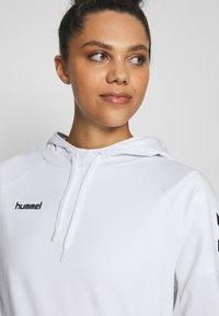 Hummel - GO HOODIE WOMAN - Hoodie - white - 3