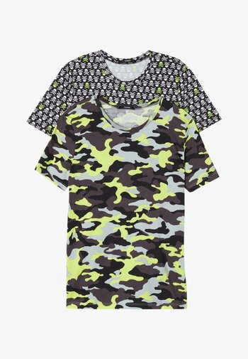2 PACK - T-Shirt print - nero st little camo