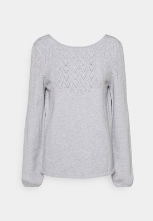 VIRIL DEEP BACK - Jumper - light grey