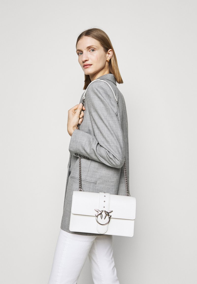 Pinko - LOVE CLASSIC ICON SIMPLY OLD - Across body bag - white