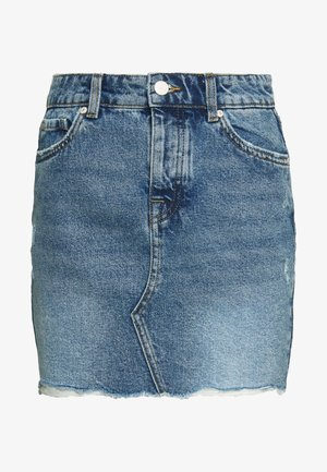 ONLSKY SKIRT - Mini skirt - light blue denim