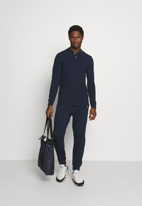 Pier One - 3 PACK - Polo shirt - dark blue/white/black - 0