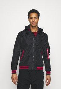 Alpha Industries - HOOD DEFENSE - Summer jacket - black - 0