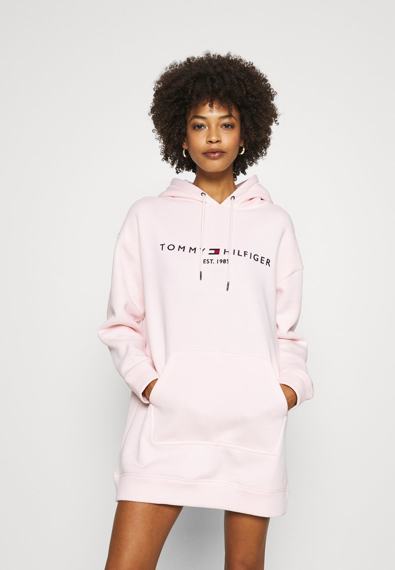 Tommy Hilfiger - HOODED DRESS - Day dress - pale pink