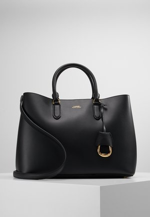 MARCY SATCHEL LARGE - Käsilaukku - black/red