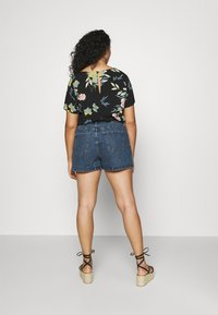 Cotton On Curve - HIGH WAISTED - Denim shorts - coogee blue - 2