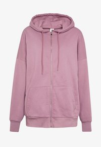 Nly by Nelly - CHUNKY ZIP HOODIE - Mikina na zip - light purple - 4