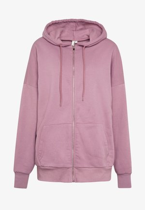 CHUNKY ZIP HOODIE - Huvtröja med dragkedja - light purple