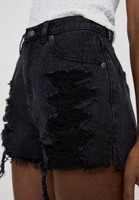 PULL&BEAR - Jeansshort - black - 3