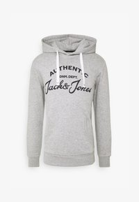 Jack & Jones - JJHERO HOOD - Mikina s kapucí - light grey melange - 4