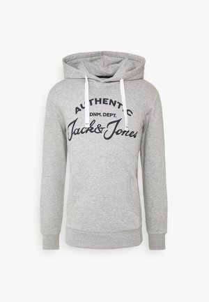 JJHERO HOOD - Luvtröja - light grey melange