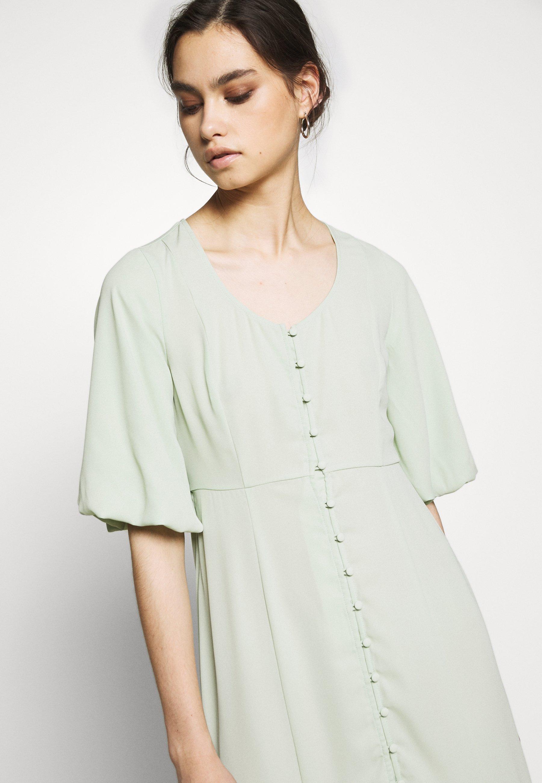 Osta Uusin Naisten Vaatteet Sarja ddj54584sfGHYHD Who What Wear THE FISHTAIL DRESS Maksimekko sage