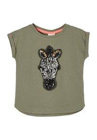 s.Oliver - Print T-shirt - khaki - 2