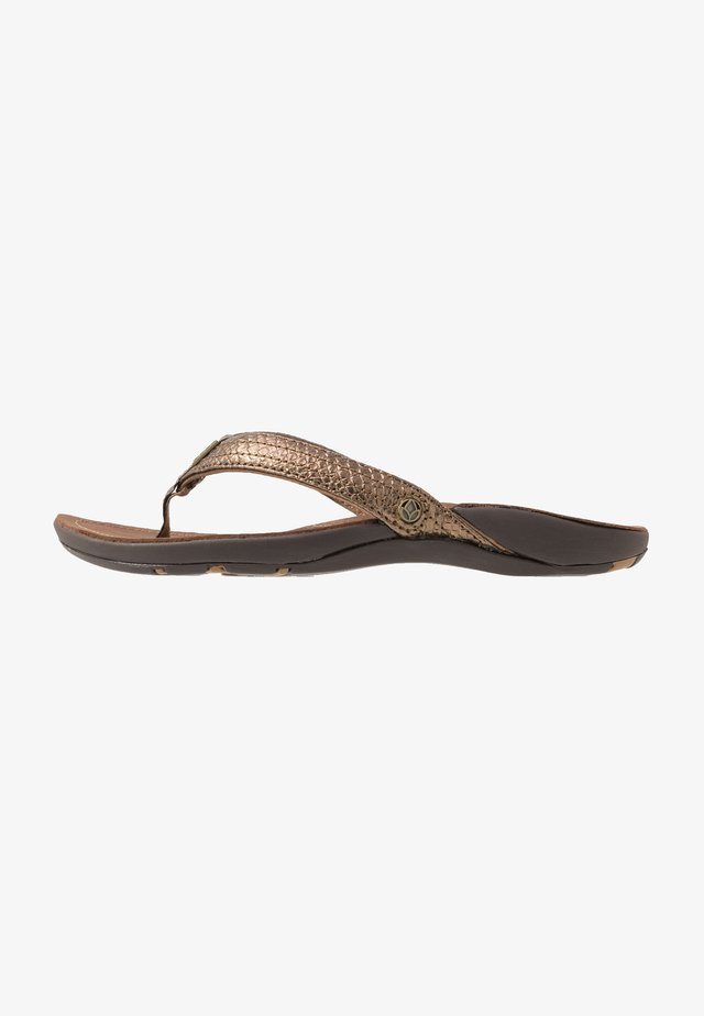 MISS J-BAY - Sandalias de dedo - copper