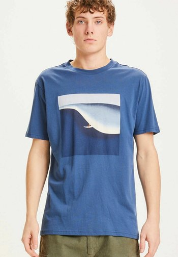 Print T-shirt - dark denim