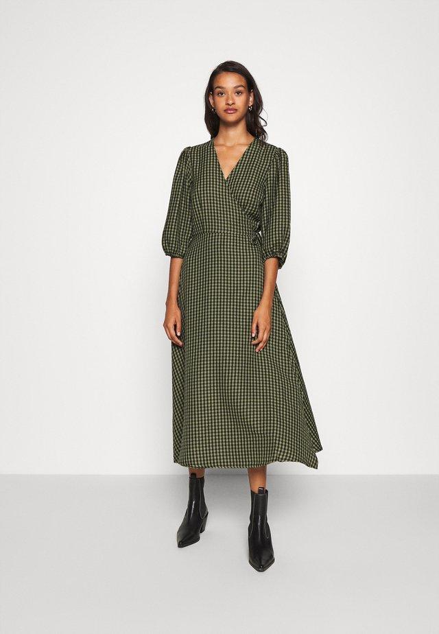 ELMINA - Korte jurk - dark olive