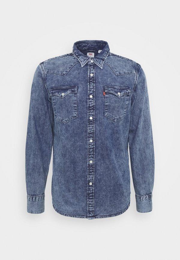 Levi's® BARSTOW WESTERN STANDARD - Koszula - marble indigo acid wash/niebieski denim Odzież Męska JHNU