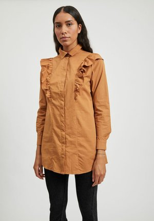 Button-down blouse - chipmunk