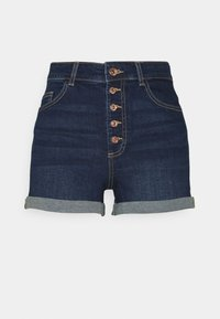 ONLY Tall - ONLHUSH BUTTON TALL - Denim shorts - dark blue denim - 0