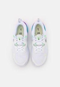 Nike Performance - REACT MILER - Neutral running shoes - white/black/vapor green/hyper jade - 3