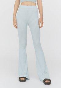 PULL&BEAR - Trousers - mottled blue - 0