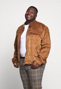 Topman - HERI CHECK - Pantalon de costume - brown - 3