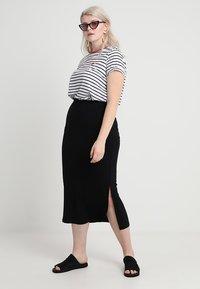 Zizzi - ANGLE SKIRT - Maxi skirt - black - 1