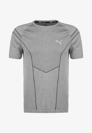 REACTIVE EVOKNIT  - Print T-shirt - medium grey heather