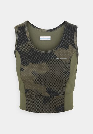 WINDGATES™ II CROPPED TANK - Top - stone green