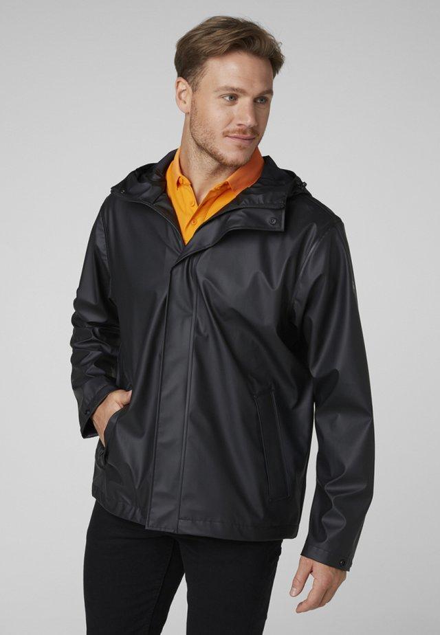 MOSS JACKET - Regnjakke / vandafvisende jakker - black