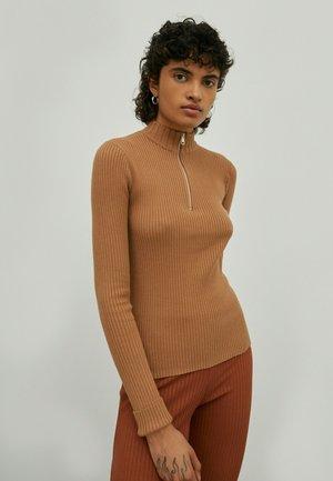 Fleece jumper - braun