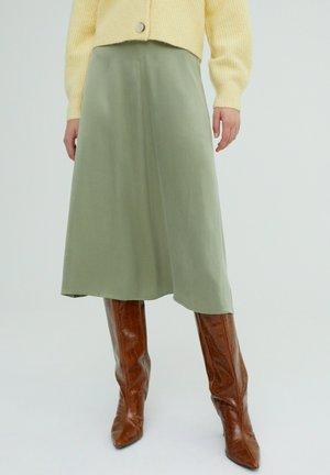 ROCK MERCY - A-line skirt - grün
