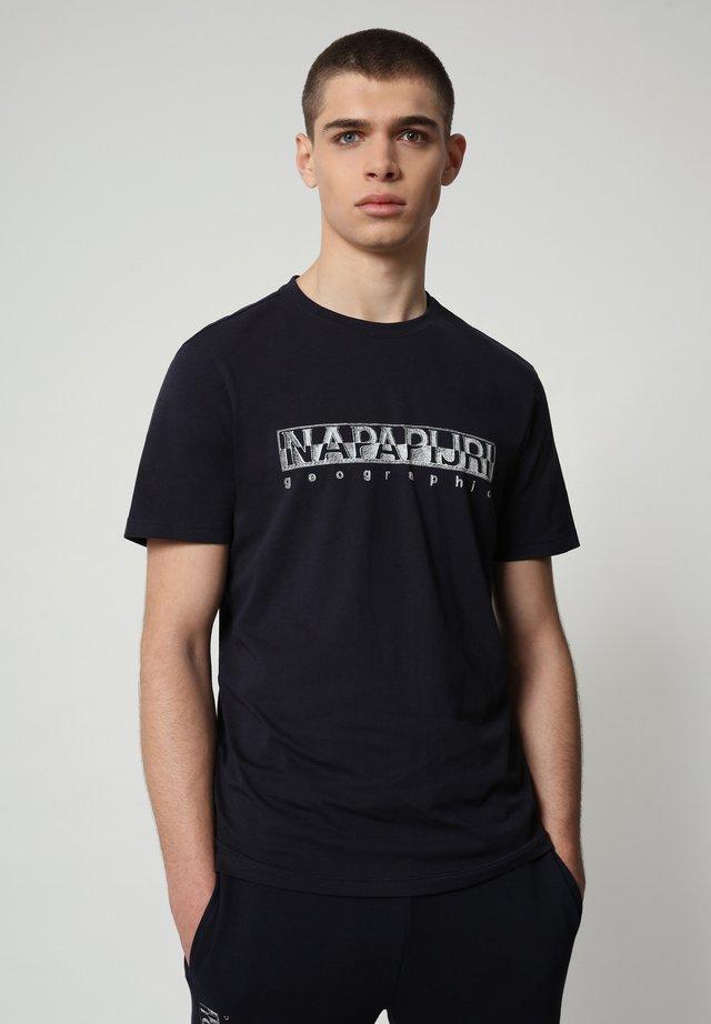 SALLAR - T-shirt con stampa - blu marine