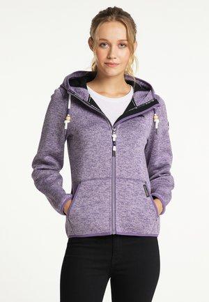 Fleece jacket - lila melange
