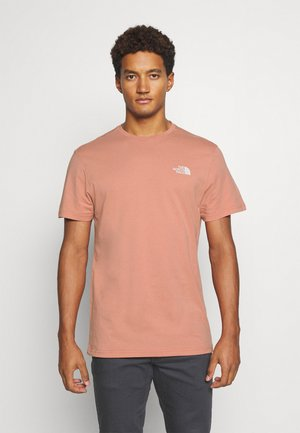 SIMPLE DOME TEE NEW TAUP - T-shirt z nadrukiem - pink clay
