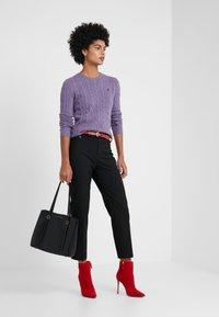 Lauren Ralph Lauren - SUITING PANT - Pantaloni - black - 1