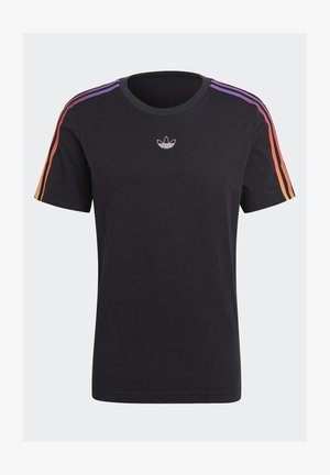 STRIPE UNISEX - T-shirt imprimé - black/multicolor
